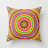Batik Bullseye Throw Pillow by Peter Gross