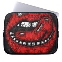 Sassy Lips Monogram Laptop Sleeves