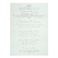 Simple Luxury White Wedding Invitations