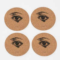Eye Cork Coaster - Set Of 4 - Urban Outfitters