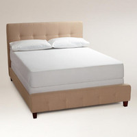 Oatmeal Draper Upholstered Bed