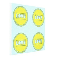 Fun Love collage yellow turquoise by healinglove