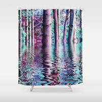 PEACE TREE-TY Shower Curtain by Catspaws