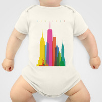 Shapes of NYC. Accurate to scale Onesuit by Glen Gould