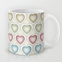 Happy hearts Mug by Juliagrifol designs