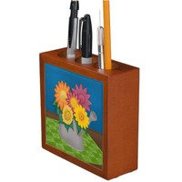 Colorful Flowers in Watering Can Organizer