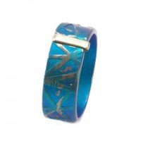 Giampouras ~ Anodized Colored Titanium Band Ring