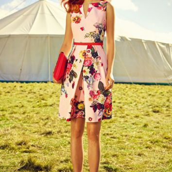Ted Baker London Midi Dress & Accessories | Nordstrom
