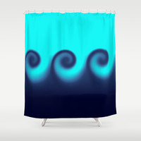Ocean Waves Shower Curtain by Beach Bum Pics