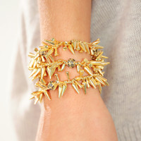 Sparkle and Spike Bracelet: Gold | Hope's