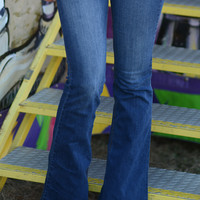 Cutie With A Bootie Flare Jeans: Denim | Hope's