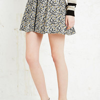 Cooperative Zip Through Skater Skirt in Daisy Print - Urban Outfitters