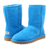 UGG Classic Short Brilliant Blue Twinface - Zappos.com Free Shipping BOTH Ways
