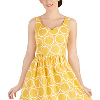 Air of Adorable Dress in Dotted Gold