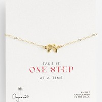 Dogeared 'One Step at a Time' Wings Station Anklet | Nordstrom