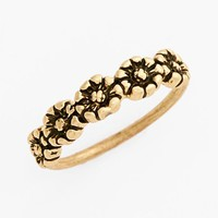 South Sun Flower Midi Ring (Juniors)