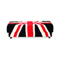 Union Jack Entertainment Ottoman