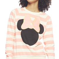Minnie Mouse Stripe Sweatshirt | Wet Seal