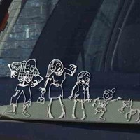 Gama-Go Zombie Family Car Vinyl Sticker Decals