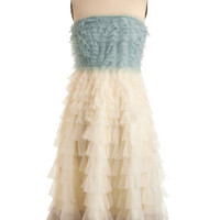 Swan Cloud Dress in Blue