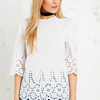 Little White Lies Broderie Anglaise Top - Urban Outfitters