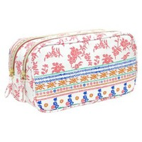 Contents Boho Glow Double Zip Clutch