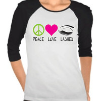 Peace Love Lashes Raglan T