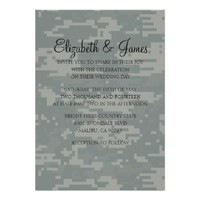 Custom Modern Camo Wedding Invitations