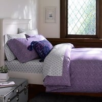 Mini Dot Duvet Cover + Pillowcases, Plum