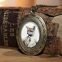 Young Mr. Fox Locket Necklace