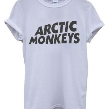 Arctic Monkeys Rock Music Band Hipster Cool Unisex Men Women Top T-Shirt