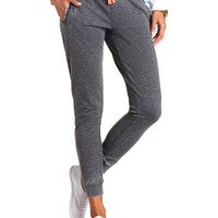 DRAWSTRING WASHED SKINNY SWEATPANTS