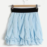 Whimsical Lady. Romantic Sweet Princess. Light Blue Wavy Petals Skirt | GlamUp - Clothing on ArtFire