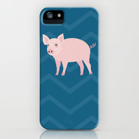 Geometric Pig iPhone & iPod Case by mollykd