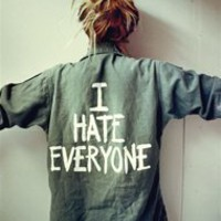 I HATE EVERYONE Vintage Army Jacket - One Size
