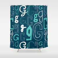 Alphabet pattern 2 Shower Curtain by mollykd