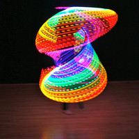 LED Hula Hoop w/ 8 Super Bright Color Changing Rainbows Leds