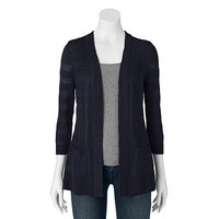 Croft & Barrow® Slubbed Open-Front Cardigan