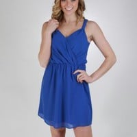 Chiffon Dress With Draping Shoulder Detail