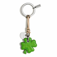 LEATHER SHAMROCK KEY CHAIN