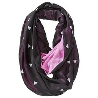 Mossimo Supply Co. Double-Sided Triangle Print Infinity Scarf - Pink/Black