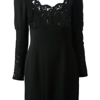 CÉLINE VINTAGE lace panel dress