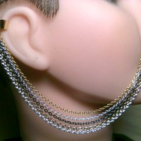 Shades of Metal 5 Strand Ear Cuff Nose Chain by ChainedHeart