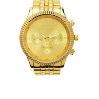 OVERSIZED GOLDEN BOYFRIEND WATCH