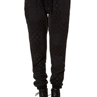 The Division Sweatpants in Black Bandanna Checkered Print