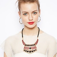 New Look Geo-Tribal Chevron Necklace