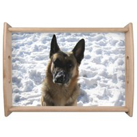 German Shepherd Serving Tray
