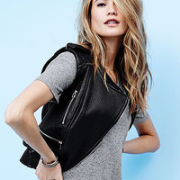 Leather Moto Vest - Victoria's Secret