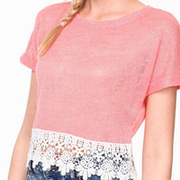 Split Back Crochet Top - LoveCulture