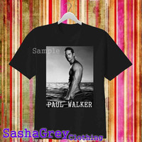 Paul Walker Black _ T-Shirt Men's Size S - 3XL Design By : sashagreystore